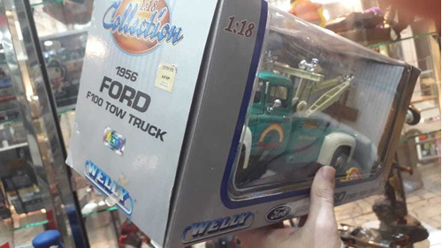 ford 1956 f100 tow truck collection escala 1/18 nueva cerrad