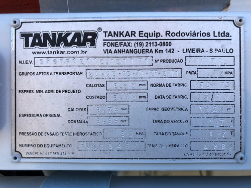 ford cargo - 1722e - 4x2 - 2011 - tanque combustivel 9.000 l