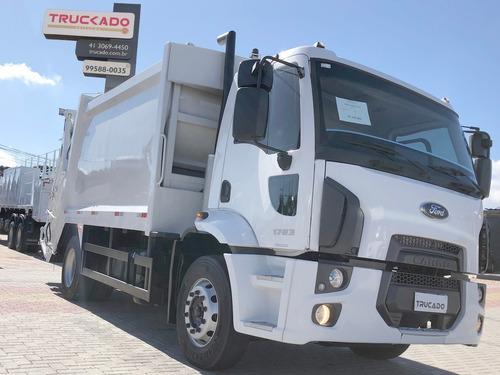 ford cargo 1723 4x2 ano 2013 compactador de lixo 15 m