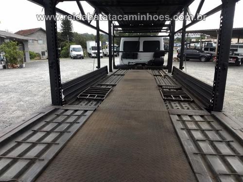 ford cargo 2422 truck cegonha p/ 7 carros 2010 revisado