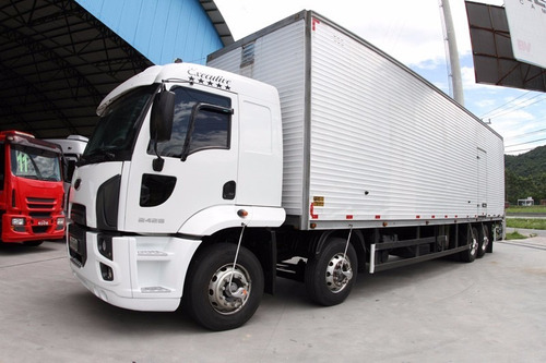 ford cargo 2428 com baú ano 2014