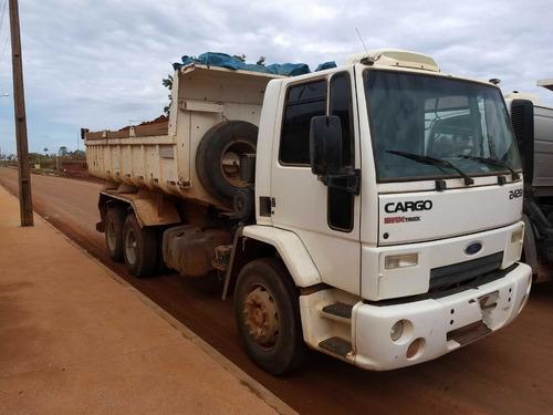ford cargo 2428/09/10 branco caçamba