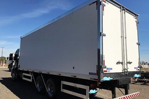 ford cargo 2429 baú refrigerado + parcelas