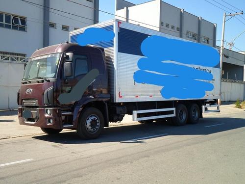 ford cargo 2429 leito 2014 completo com bau novissimo