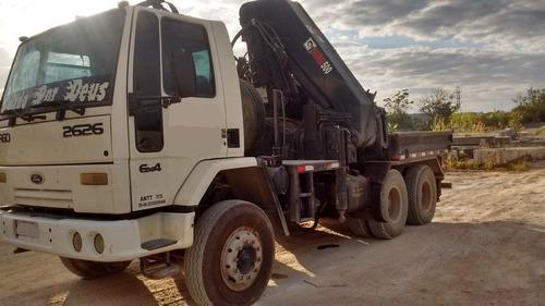 ford cargo 2626 6x4 , 2003, c/ munck hiab 500-6 **confira**