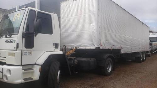 ford cargo 4532 2009 c/carreta bau 1989 2 eixo