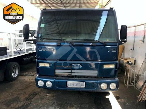 ford cargo 712/2012 - carroceria com plataforma hidráulica