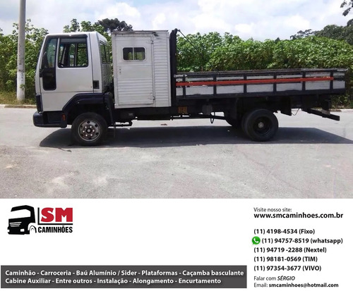 ford cargo 815 carroceria cabine suplementar 4l