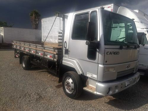 ford cargo 815/10/11 prata carroceria de madeira