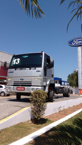 ford cargo 816 3/4 no chassi prata 2013 otima oferta!
