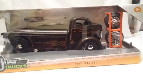 ford coe 1947 jada élite con refacciones 1/24