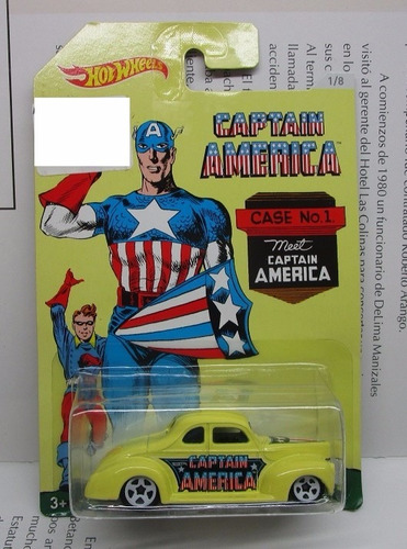 ford coupe captain america 7cm largo coleccion hot wheels