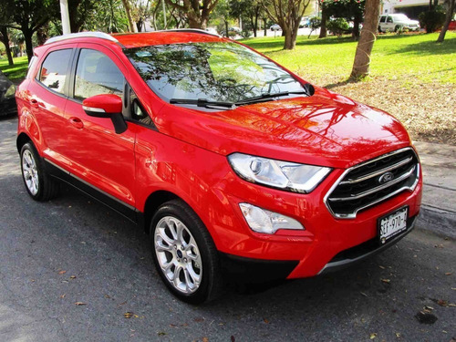 ford ecosport titanium 2019 color rojo