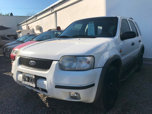 ford escape 2.0 xls 4x2 2001 blanca excelente #at3