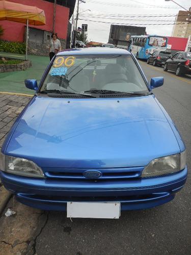 ford escort gl 1.6 1996 azul revisado