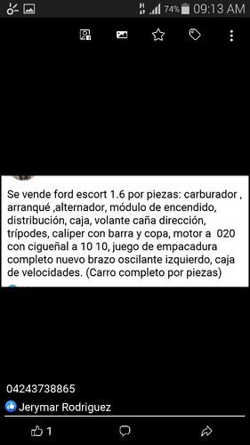 ford escort ventas de repuestos