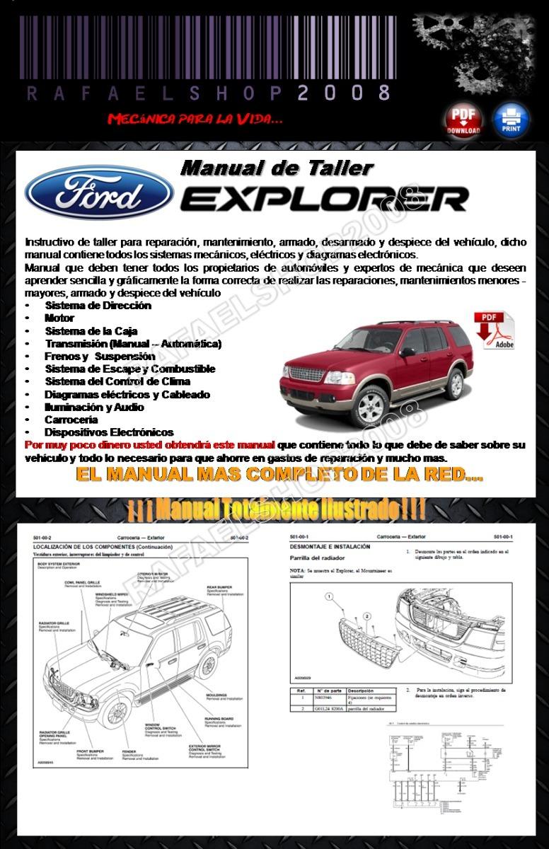 ford explorer 2003 manual de taller y diagramas español. Cargando zoom.