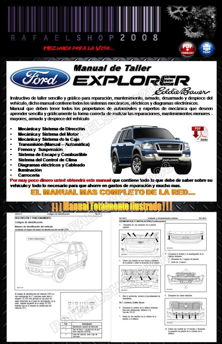 Ford    Explorer Eddie Bauer 2005 2010 Manual    De       Taller       Diagram     Bs 40000 00 en Mercado Libre