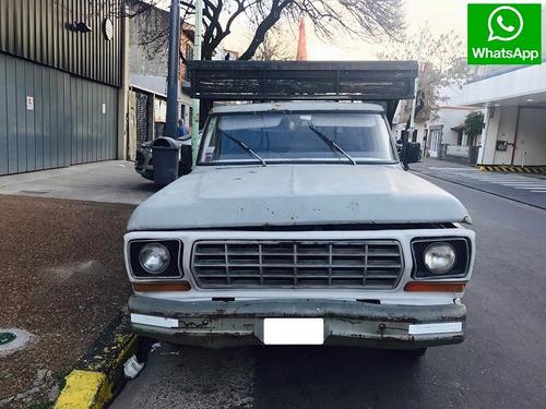 ford f-100 1980 gnc!! excelente mecánica!! fea de pintura!!