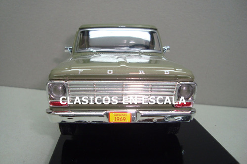 ford f-100 pickup 1969 - clasica argentina - v motormax 1/24