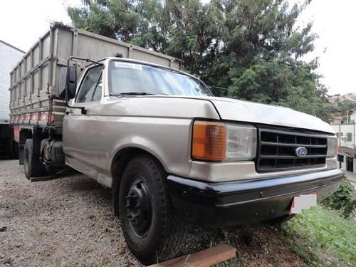 ford f 4000 ano 1995 com carroceria graneleira.