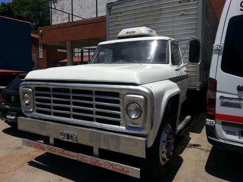 ford f-6000 furgón de aluminio 1977 - muy bueno