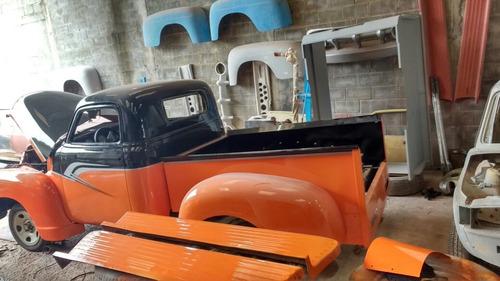 ford f1. pickup antiga kit fibra com chassi ranger motor v6