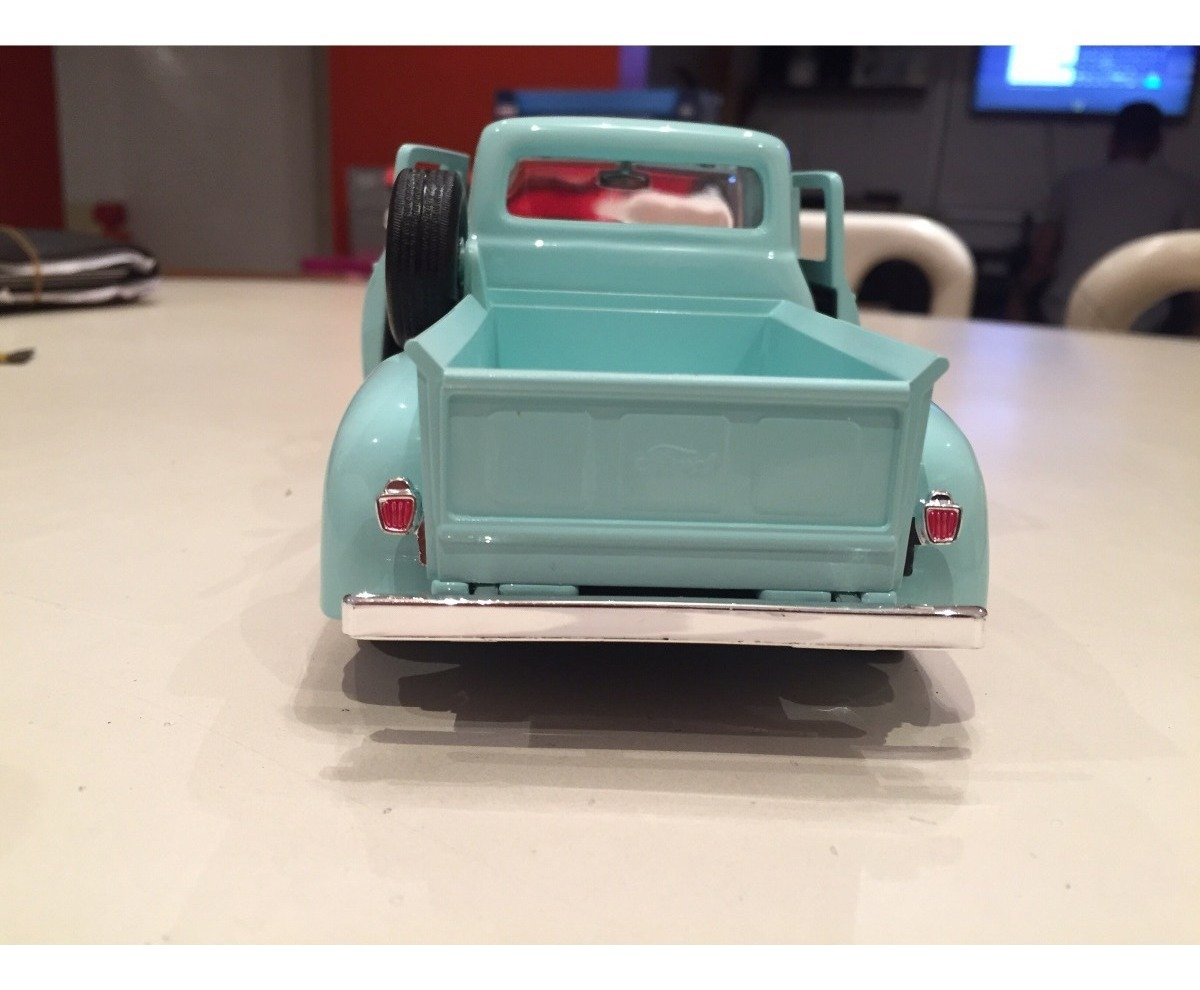 Ford f-100 pick up gris verde 1969 1//24 Motormax modelo coche con o sin indí...