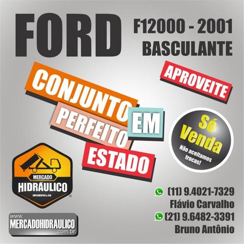 ford f12000 / 2001 - caçamba basculante