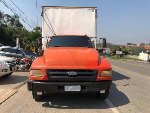 ford f14000 6x2 reduzido baú 7 metros fs caminhoes