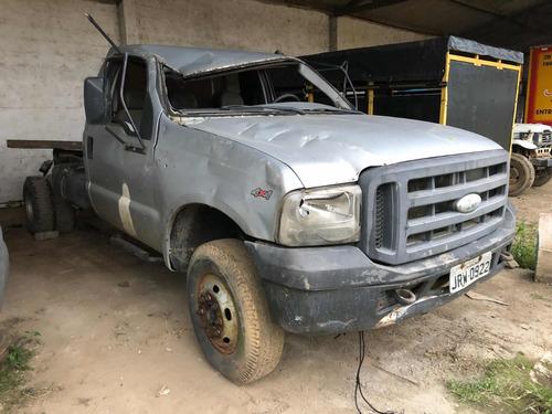 ford f4000 4x4 ano 2009 diesel com ar sinistro batida