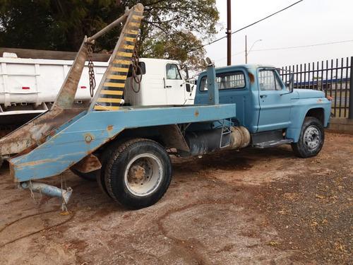 ford f600 caminhão poli com direção hidráulica motor 1113