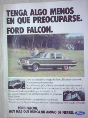 ford falcon publicidad años 70 - no envio