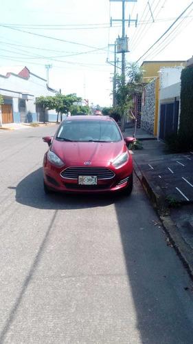 ford fiesta 2016 rojo automático eléctrico