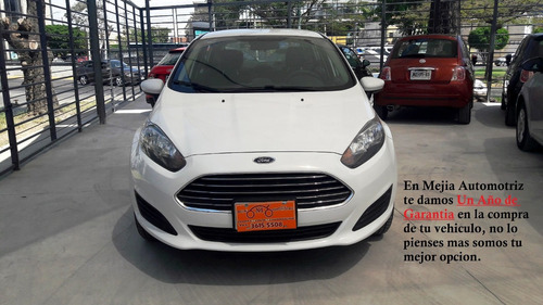 ford fiesta s sedan mt blanco 2016, excelentes condiciones