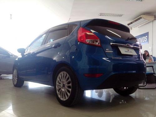 ford fiesta titanium 1.6 16v aut 2016 azul flex