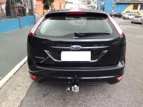 ford focus 1.6 gl 4 portas preto 2010 couro.