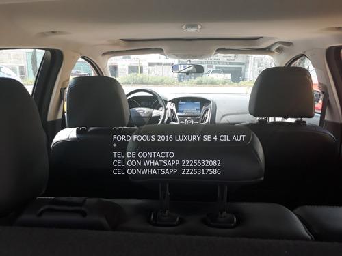 ford focus 2016 se luxury 4 cil aut piel q/c eng $ 45,600