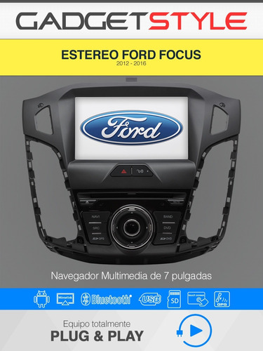 ford focus autoestereo android wifi gps bluetooht dvd usb