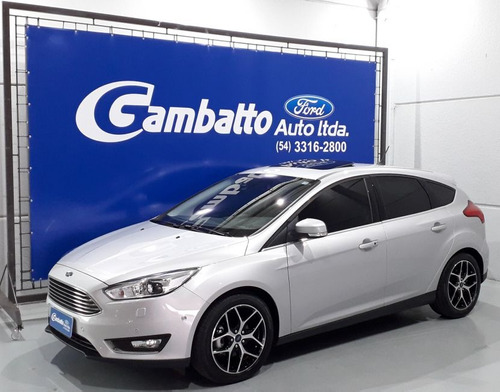 ford focus titanium plus 2018 prata flex