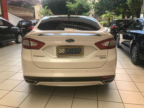 ford fusion 2.0 gtdi titanium aut. 4p 2015 branco perolizado