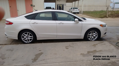 ford fusion 2.5 s l4 at 2013 blanco