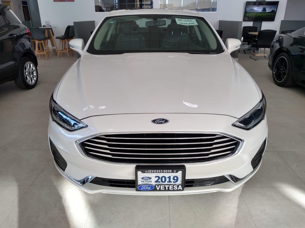 Ford Fusion Hibrido Sel 2019 Blanco Platinado Nuevo 585 000 En