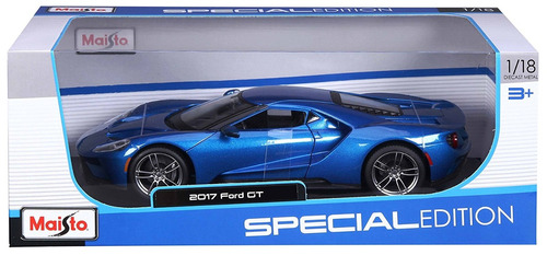 ford gt 2017 carro coleccion escala 1 18 maisto