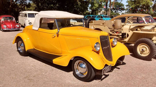ford hot rod 1934 v8 conversível chassi inox newcar
