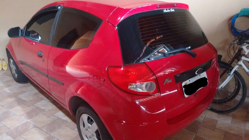 ford ka 1.0 flex 2010 - vermelho impecável - 2010