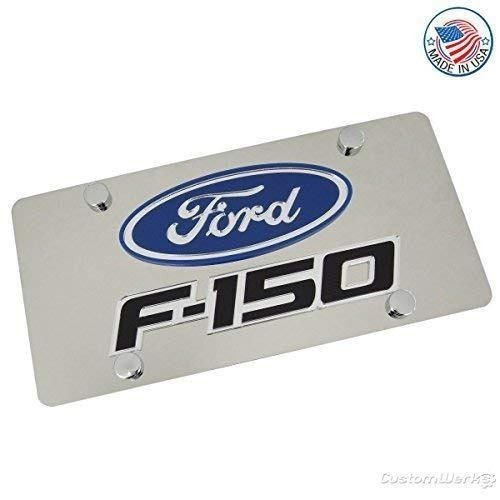 ford logotipo & f-150nombre pulido placa de licencia