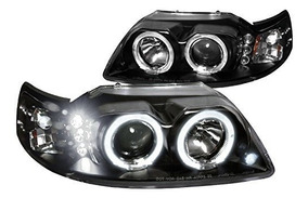 1999-2004 Ford Mustang V8 V6 Gt 5.0 Halo Led Faros Proyectores Lámparas Smoke