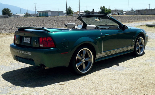 ford mustang 4.6 gt convertible equipado vip piel at, rin 20