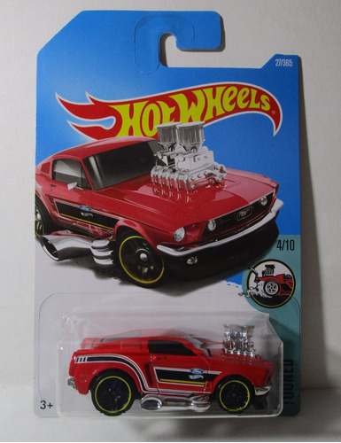 ford mustang 68 tooned coleccion escala hot wheels m7
